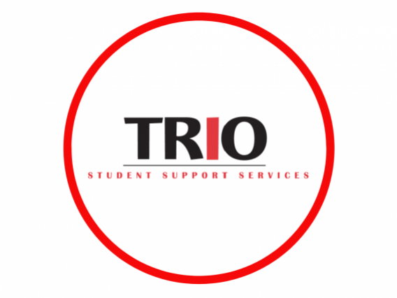 Trio written in large all caps letters. Directly beneath it are the words student support services.